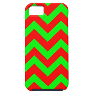 Light Green And Red Chevrons iPhone SE/5/5s Case