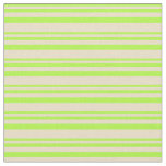 [ Thumbnail: Light Green and Tan Colored Lines Pattern Fabric ]