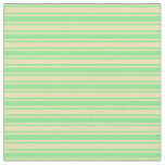 [ Thumbnail: Light Green and Tan Colored Stripes Fabric ]