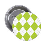 Light Green and White Argyle Pattern Buttons