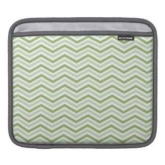 Light Green and White Chevron Stripes Sleeve For iPads