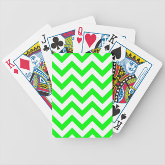 Light Green And White Chevrons Bicycle Playing Cards