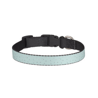 Light Green and White Leaves Pet Collar