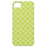 Light Green and White Quatrefoil Patterns iPhone 5 Case