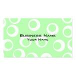 Light green and white retro pattern. business card template
