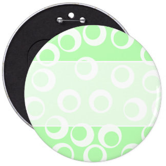 Light green and white retro pattern pinback buttons