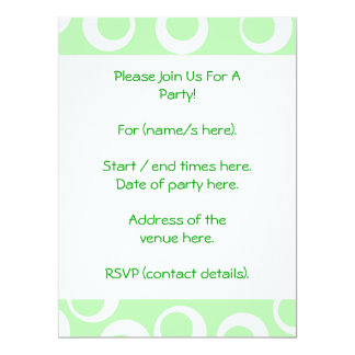 Light green and white retro pattern. card