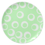 Light green and white retro pattern. dinner plates