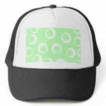 Light green and white retro pattern. trucker hat