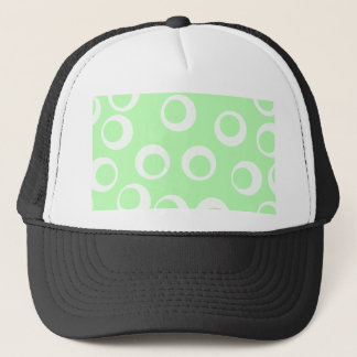 Light green and white retro pattern. trucker hat
