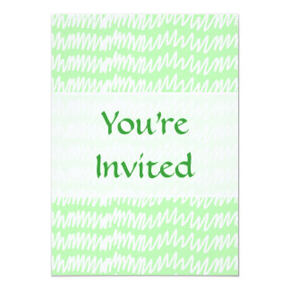 Light green and white squiggle pattern. card