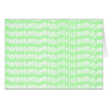 Light green and white squiggle pattern. greeting card