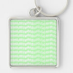 Light green and white squiggle pattern. key chains