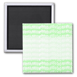 Light green and white squiggle pattern. magnet