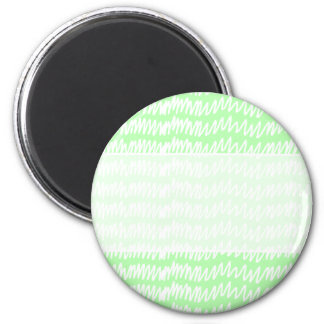 Light green and white squiggle pattern. magnets