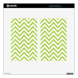 Light Green and white Striped Zigzag Pattern Kindle Fire Skins