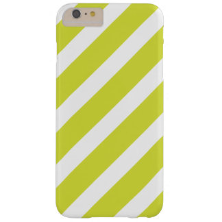 Light Green and White Stripes Barely There iPhone 6 Plus Case