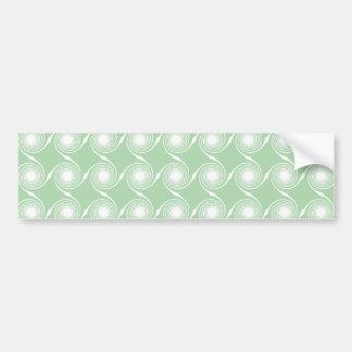 Light green and white swirl pattern. car bumper sticker