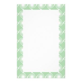 Light green and white swirl pattern. stationery