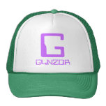 Light green and white truckers' hat with big G