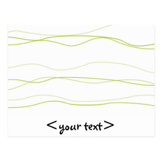 Light Green and White Waves Postcard