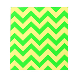 Light Green And Yellow Chevrons Notepad