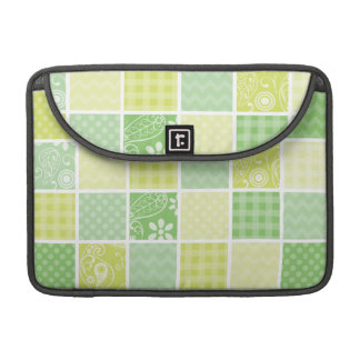 Light Green and Yellow Cute Checkered MacBook Pro Sleeves