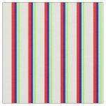 [ Thumbnail: Light Green, Aquamarine, Dark Blue, Red & Yellow Fabric ]