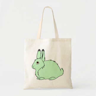 Light Green Arctic Hare Budget Tote Bag