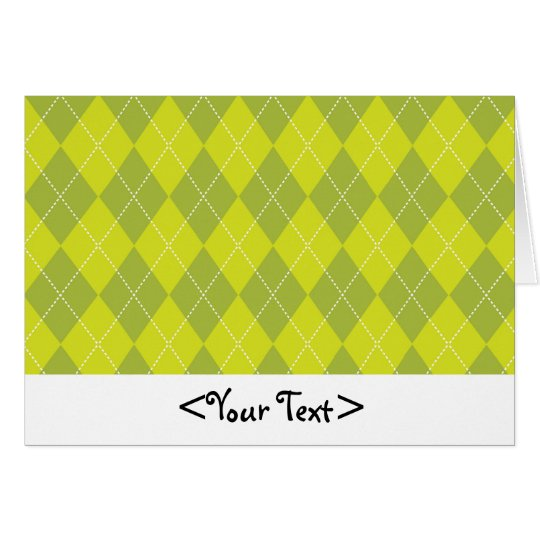 Light Green Argyle Pattern Card