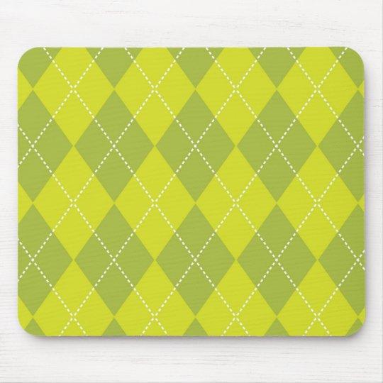 Light Green Argyle Pattern Mouse Pad