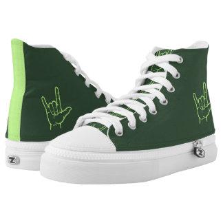 Light Green ASL I Love You Hi Top