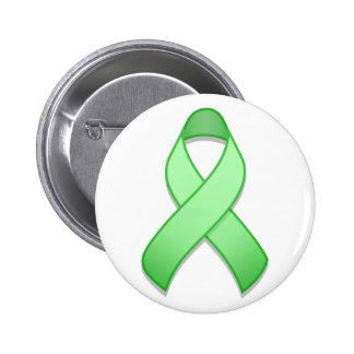 Light Green Awareness Ribbon Button