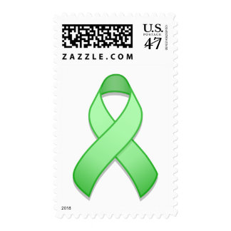 Light Green Awareness Ribbon Postage