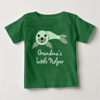 Light Green Baby Seal Baby T-Shirt
