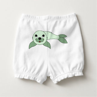Light Green Baby Seal Diaper Cover