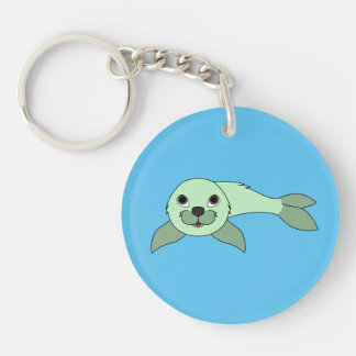 Light Green Baby Seal Keychain