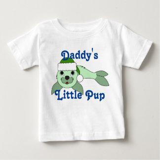 Light Green Baby Seal with Green Santa Hat Shirt