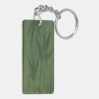 Light Green Bamboo Acrylic Keychain