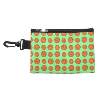 light green basketball pattern accessory bags