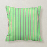 [ Thumbnail: Light Green, Beige, and Gray Colored Pattern Throw Pillow ]