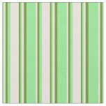 [ Thumbnail: Light Green, Beige, and Green Colored Pattern Fabric ]