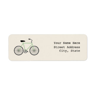 Light Green Bicycle Address Label