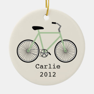 Light Green Bicycle Personalized Ornament