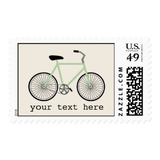 Light Green Bicycle Postage
