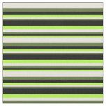 [ Thumbnail: Light Green, Black, Dark Olive Green & Beige Fabric ]