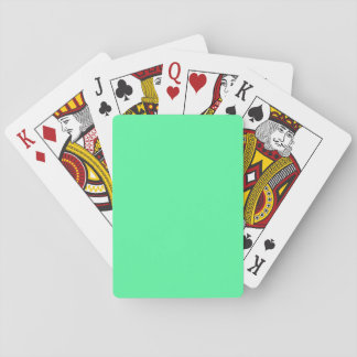 Light Green Blue color Playing Cards