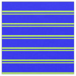 [ Thumbnail: Light Green & Blue Colored Lined Pattern Fabric ]