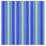 [ Thumbnail: Light Green & Blue Colored Striped/Lined Pattern Fabric ]