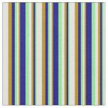 [ Thumbnail: Light Green, Blue, Dark Goldenrod & Light Cyan Fabric ]